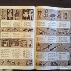 Juguetes antiguos: CATALOGO APARECE HOJA CON MUÑECAS, COCHES. Lote 195214800