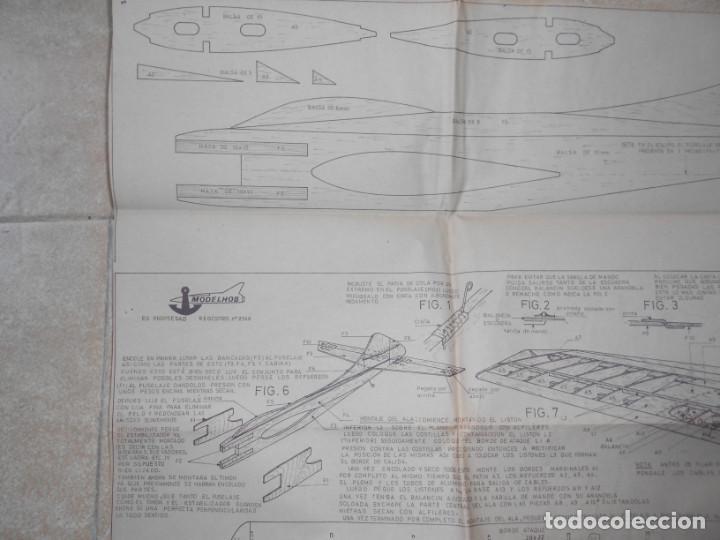 Juguetes antiguos: ANTIGUO PLANO MODELHOB REGISTRO 2348 AVION SMOUSEN ACROBACIA Y COMBATE AEROMODELISMO - Foto 2 - 195375910