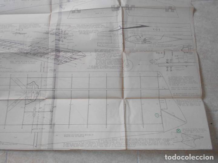 Juguetes antiguos: ANTIGUO PLANO MODELHOB REGISTRO 2348 AVION SMOUSEN ACROBACIA Y COMBATE AEROMODELISMO - Foto 4 - 195375910
