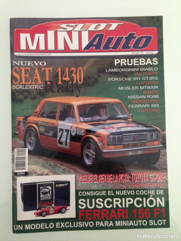 SLOT MINIAUTO 19,FERRARI 156 F1,SEAT 1430, TOYOTA GT-ONE,FERRARI 555 SUPERSQUALO, PORSCHE 911 GT3 RS (Juguetes - Catálogos y Revistas de Juguetes)