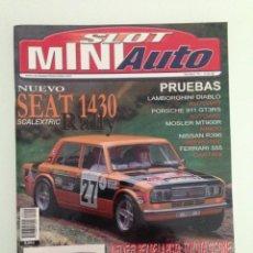 Juguetes antiguos: SLOT MINIAUTO 19,FERRARI 156 F1,SEAT 1430, TOYOTA GT-ONE,FERRARI 555 SUPERSQUALO, PORSCHE 911 GT3 RS. Lote 195447355