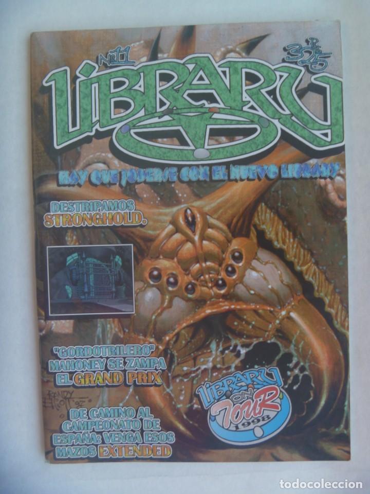 REVISTA LIBRARY , Nº 11 , 1998. DEDICADA A JUEGOS DE ROL, CARTAS, ETC (Juguetes - Catálogos y Revistas de Juguetes)