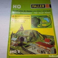 Juguetes antiguos: CATALOGO MAQUETAS TRENES FALLER ESCALA H0. Lote 196351297