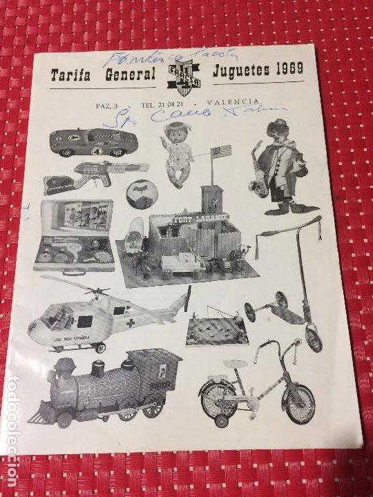 JUGUETES FRACSA - VALENCIA - TARIFA GENERAL - AÑO 1969 (Juguetes - Catálogos y Revistas de Juguetes)