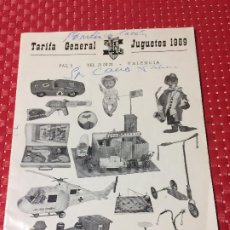 Juguetes antiguos: JUGUETES FRACSA - VALENCIA - TARIFA GENERAL - AÑO 1969. Lote 197782075