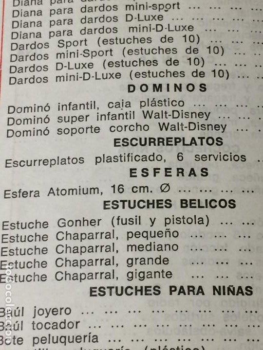 Juguetes antiguos: JUGUETES FRACSA - VALENCIA - TARIFA GENERAL - AÑO 1969 - Foto 4 - 197782075
