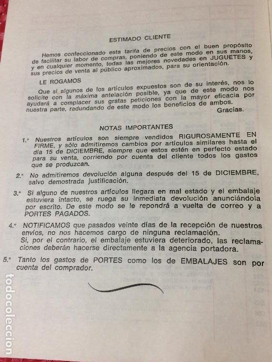 Juguetes antiguos: JUGUETES FRACSA - VALENCIA - TARIFA GENERAL - AÑO 1969 - Foto 9 - 197782075