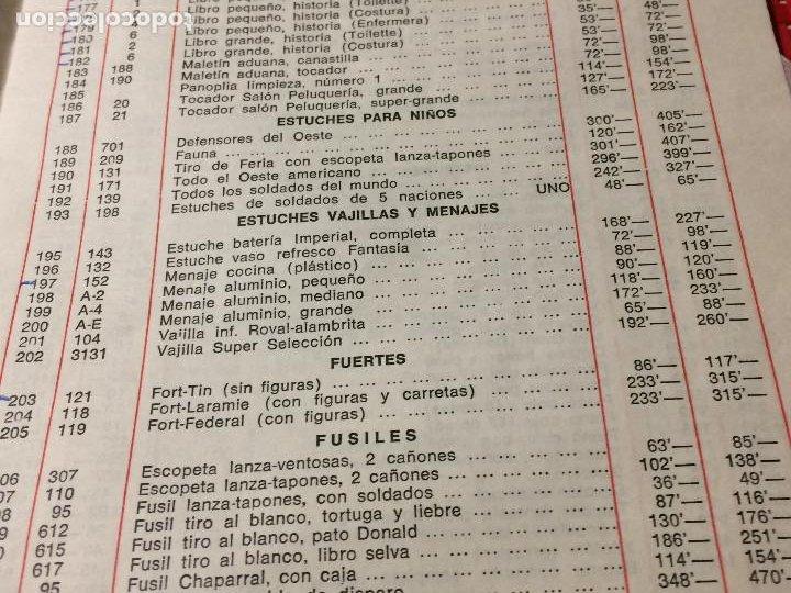 Juguetes antiguos: JUGUETES FRACSA - VALENCIA - TARIFA GENERAL - AÑO 1969 - Foto 8 - 197782075