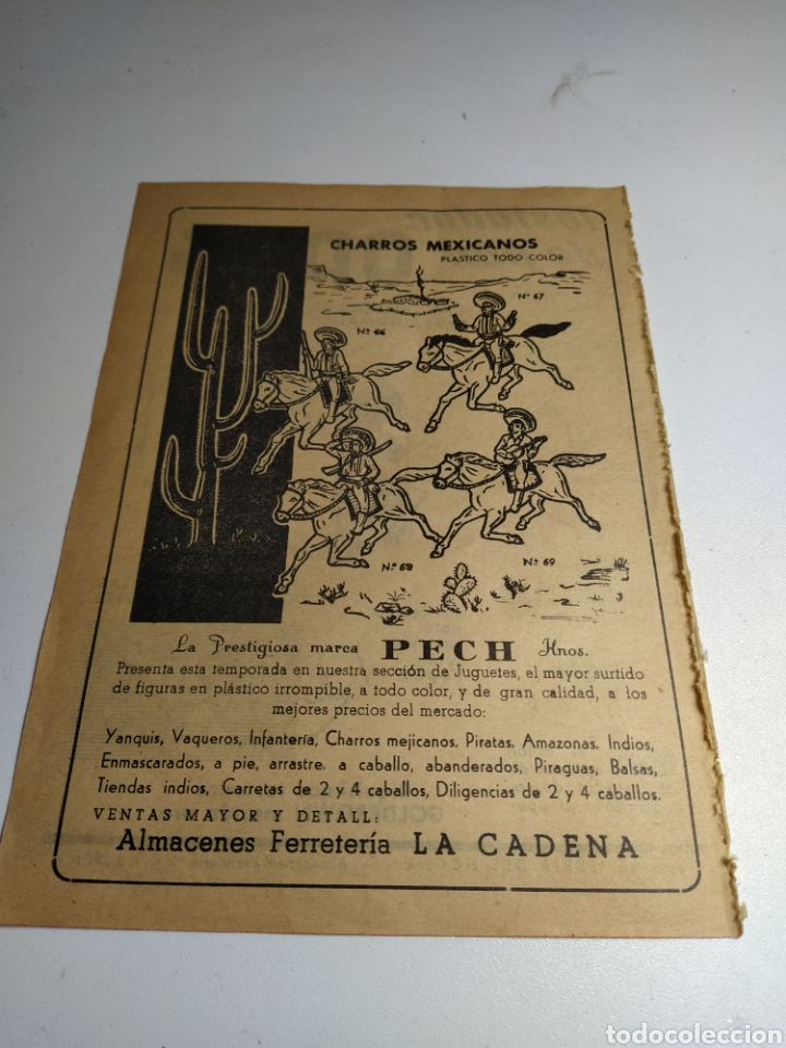 RECORTE PUBLICIDAD JUGUETES PECH Y TOSTADOR ODAG (Juguetes - Catálogos y Revistas de Juguetes)