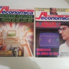 Juguetes antiguos: LOTE REVISTAS ACTUALIDAD ECONÓMICA ATARI COMECOCOS JUEGO DE ORO Y ORDENADOR PERSONAL DE LOS 80. Lote 198713305