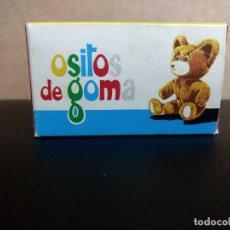 Juguetes antiguos: ANTIGUA CAJA DE GOMINOLAS -OSITOS DE GOMA ESMAVE ORIGINAL 1970. Lote 198999578