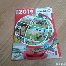 Juguetes antiguos: SCHLEICH -- CATALOGO 2019 -- FIGURAS REALISTAS. Lote 199130930