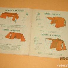 Juguetes antiguos: CATALOGO DE MATERIAL PARA CAMPING Y JUEGOS PARA NIÑOS -PIVET-, AÑO 1950.. Lote 199487922