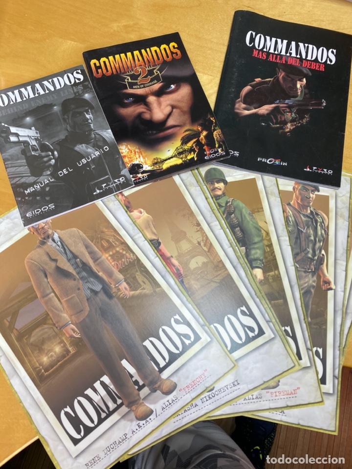 DOCUMENTACIÓN, FICHAS, MANUALES DEL ANTIGUO JUEGO COMANDOS. ORIGINAL (Juguetes - Catálogos y Revistas de Juguetes)