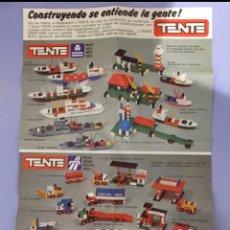 Juguetes antiguos: CATÁLOGO TENTE, AÑOS 80. Lote 204006968