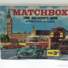 Juguetes antiguos: CATALOGO DE JUGUETES MATCHBOX DEL AÑO 1966 - 39 PÁGINAS. Lote 204073450