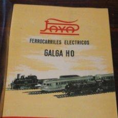 Juguetes antiguos: CATÁLOGO JUGUETES PAYÁ FERROCARRILES TRENES ELÉCTRICOS GALGA HO, 1958.. Lote 204434317