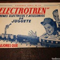 Juguetes antiguos: PRIMER CATÁLOGO DE ELECTROTREN-TRENES ELÉCTRICOS Y ACCESORIOS (LOCOMOTORA,VAGONES,...).1951, RARO. Lote 204467588