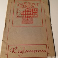 Juguetes antiguos: JUEGOS REUNIDOS. REGLAMENTO. ANTIGUO. Lote 204848086