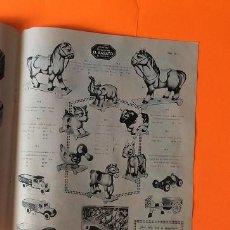 Juguetes antiguos: HOJA PUBLICIDAD JUGUETES ANTIGUA ANIMALES CARTON, CAMION, COCHE, JUEGOS, ROMPECABEZAS. Lote 206127348
