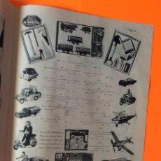 Juguetes antiguos: HOJA PUBLICIDAD AUTO ISETTE,CAMION VOLQUETE,EQUIPO MECCANO,VESPA, JEEP. Lote 206127470
