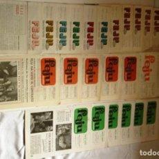 Juguetes antiguos: LOTE DE 33 REVISTAS FERIA DEL JUGUETE DE VALENCIA -FEJU – AÑOS 60 Y 70.. Lote 206290476