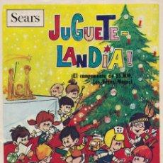 Juguetes antiguos: JUGUETELANDIA, ALMACENES SEARS, DICIEMBRE DE 1968. ¡DIFÍCIL!. Lote 206291676