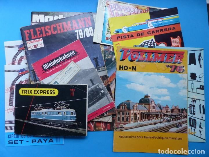 15 CATALOGOS Y REVISTAS ANTIGUAS DE JUGUETES, TRENES, COCHES, MOTOS, PAYA, AÑOS 1950-1980, VER FOTOS (Juguetes - Catálogos y Revistas de Juguetes)