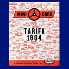 Juguetes antiguos: MINI CARS - FOLLETO; TARIFA 1964 - ANGUPLAS - AUTOMÓVILES EN MINIATURA - ORIGINAL - DIFICIL. Lote 207147863