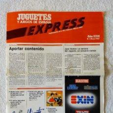 Juguetes antiguos: JUGUETES Y JUEGOS DE ESPAÑA EXPRESS Nº 1 MAYO 1987. Lote 208288900