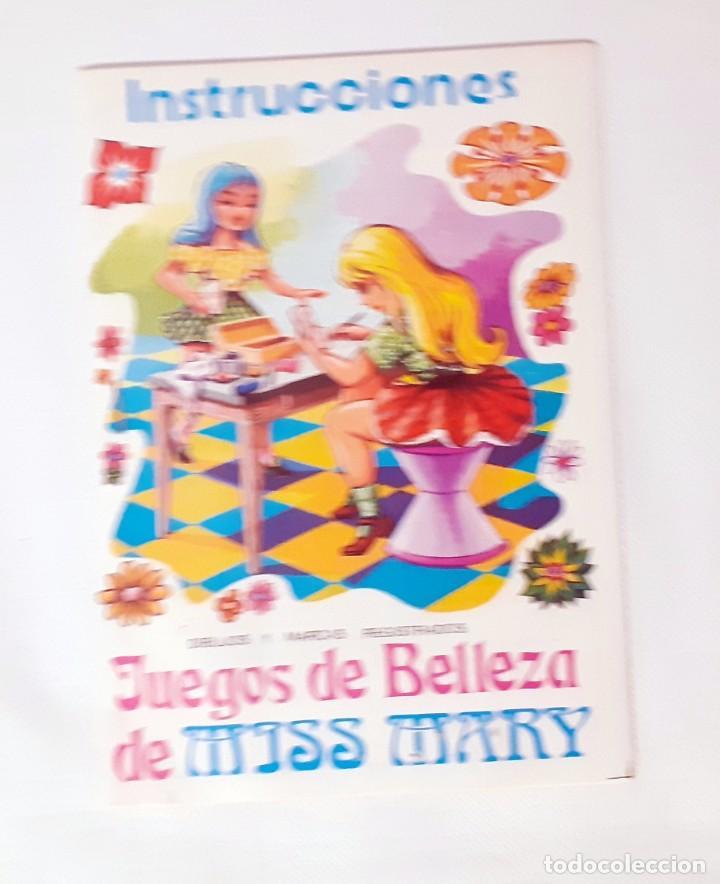 INSTRUCCIONES DEL JUEGO DE BELLEZA MISS MARY (Juguetes - Catálogos y Revistas de Juguetes)