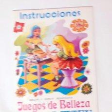 Juguetes antiguos: INSTRUCCIONES DEL JUEGO DE BELLEZA MISS MARY. Lote 209272975