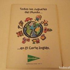Juguetes antiguos: CATÁLOGO DE JUGUETES EL CORTE INGLÉS NAVIDAD. Lote 210423156
