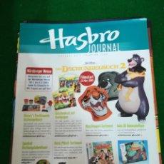 Juguetes antiguos: REVISTA HASBRO JOURNAL , Nº 1 , FEBRERO 2003 , EN ALEMAN. Lote 210549891