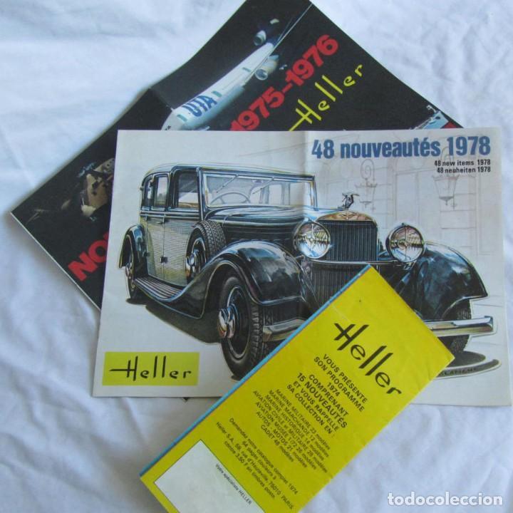 TRES CATÁLOGOS DE MAQUETAS HELLER AÑOS 70 (Juguetes - Catálogos y Revistas de Juguetes)
