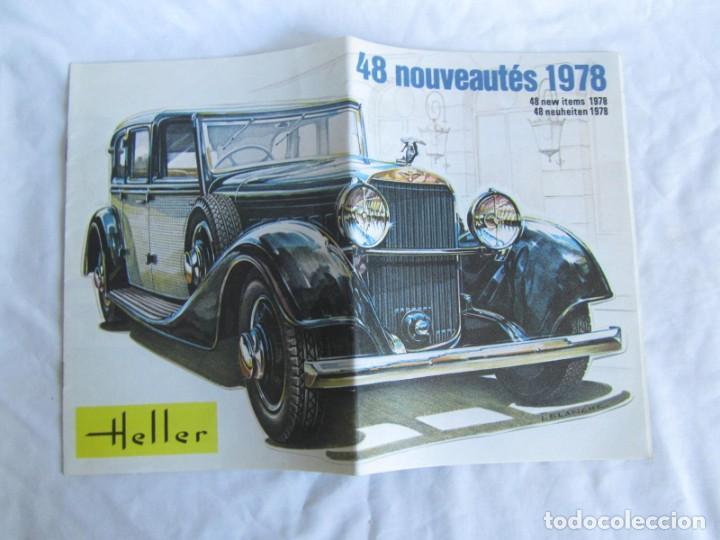 Juguetes antiguos: Tres catálogos de maquetas Heller Años 70 - Foto 2 - 213407008