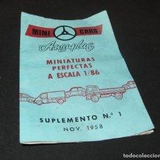 Juguetes antiguos: CATÁLOGO MINI CARS ANGUPLAS,SALEN CAMIONES PEGASO,NOVIEMBRE 1958. Lote 213753311