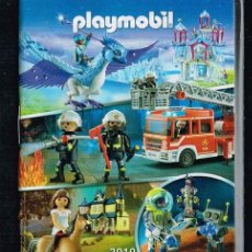 Juguetes antiguos: PLAYMOBIL - MINI CATÁLOGO AÑO 2019, BOMBEROS, HÍPICA, ASTRONAUTAS. Lote 214964350
