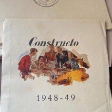 Juguetes antiguos: CONSTRUCTO – 1949 – CATÁLOGO DE MINIATURA NAVAL - MENORCA. Lote 215870937