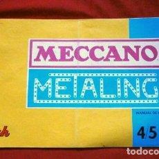 Juguetes antiguos: MECCANO METALING 4/5 MANUAL DE INSTRUCCIONES - ED. NOVEDADES POCH - MONTAJES - PIEZAS - MECANO. Lote 216491776