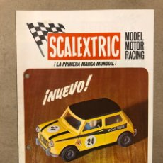 Juguetes antiguos: SCALEXTRIC MODEL MOTOR RACING. CATÁLOGO ÚLTIMAS NOVEDADES. MINI COOPER. XIII - 70.. Lote 216789171