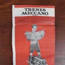 Juguetes antiguos: FOLLETO DE TRENES MECCANO (HORNBY) ,COCHES Y BARCOS (DINKY TOYS) EN CASTELLANO. Lote 217238696