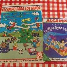 Juguetes antiguos: LOTE DE DOS CATALOGOS DE JUGUETES DEL ALCAMPO. Lote 217609841