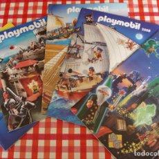 Juguetes antiguos: LOTE DE CINCO CATALOGOS DE JUGUETES DE PLAYMOBIL. Lote 217610257