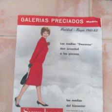 Juguetes antiguos: ANTIGUO CATALOGO GALERÍAS PRECIADOS, NAVIDAD-REYES 1961-62. INCOMPLETO. Lote 218329092
