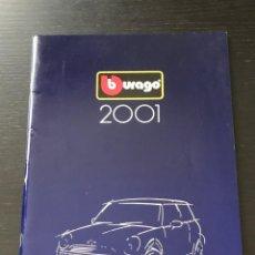 Juguetes antiguos: BURAGO 2001 - CATALOGO - FERRARI PORSCHE MERCEDES FORD BMW LANCIA VOLVO MINI LAND ROVER FIAT ALFA. Lote 218605552