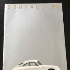 Juguetes antiguos: BURAGO 1990 - CATALOGO - FERRARI PORSCHE MERCEDES FORD BMW LANCIA VOLVO MINI LAND ROVER FIAT ALFA. Lote 218606275