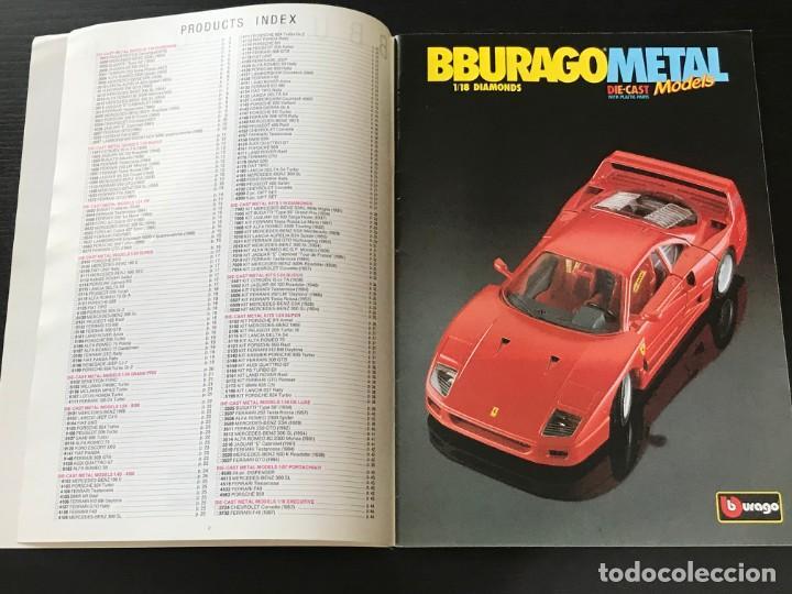 Juguetes antiguos: BURAGO 1990 - CATALOGO - FERRARI PORSCHE MERCEDES FORD BMW LANCIA VOLVO MINI LAND ROVER FIAT ALFA - Foto 2 - 218606275