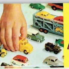 Juguetes antiguos: AÑOS 50 - 60 CATÁLOGO COMPLETO MINI-CARS ANGUPLAS, REF. A PLASTILANDIA Y MINI SHIPS EN PTDA. TRASERA. Lote 221371116