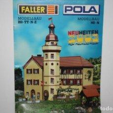 Juguetes antiguos: ANTIGUO CATÁLOGO FALLER.. Lote 222046763